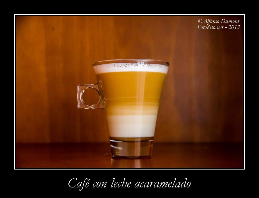 Cafe con leche acaramelado