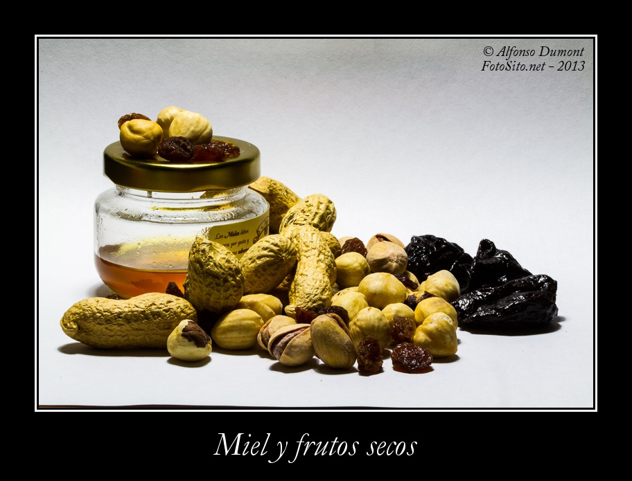 Miel y frutos secos