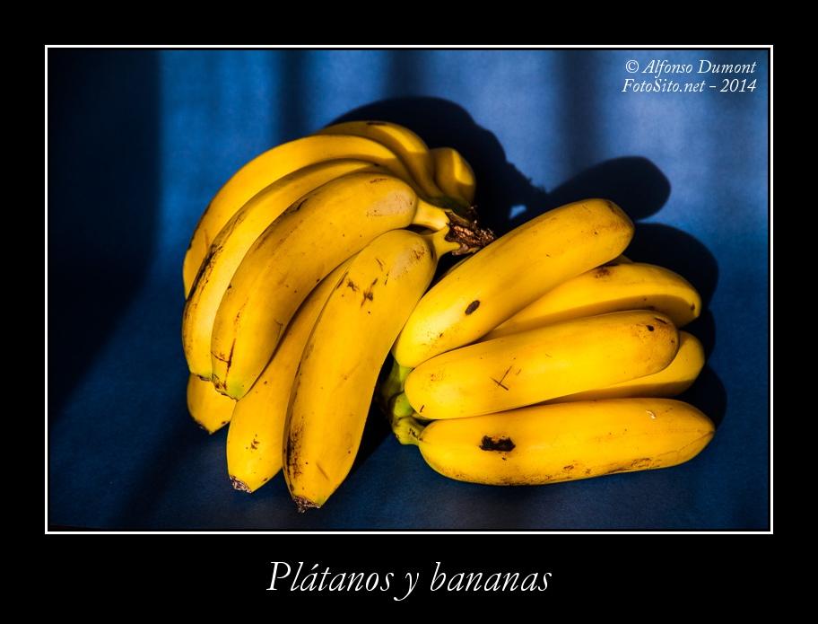 Platanos y bananas