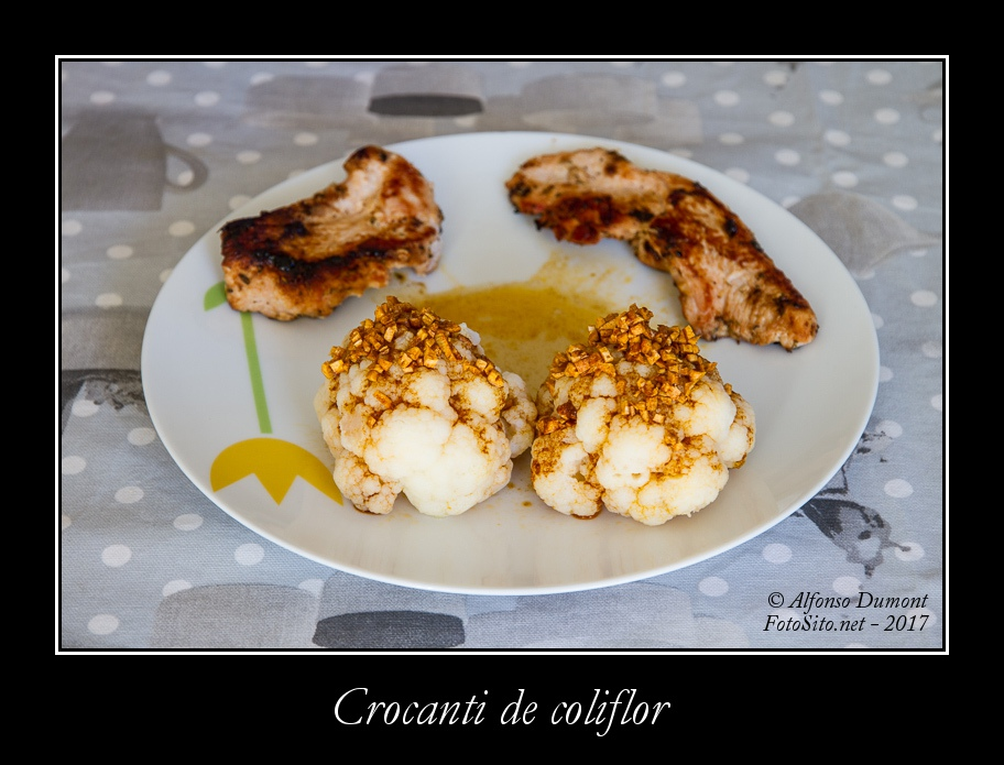 Crocanti de coliflor