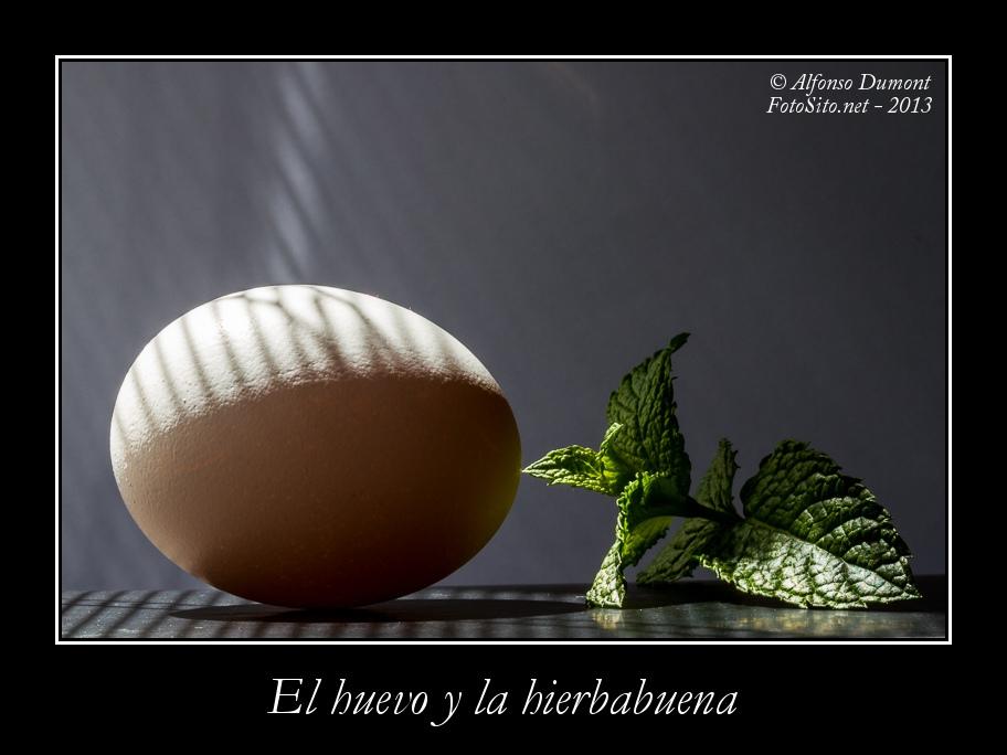 El huevo y la hierbabuena