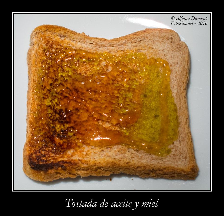 Tostada de aceite y miel