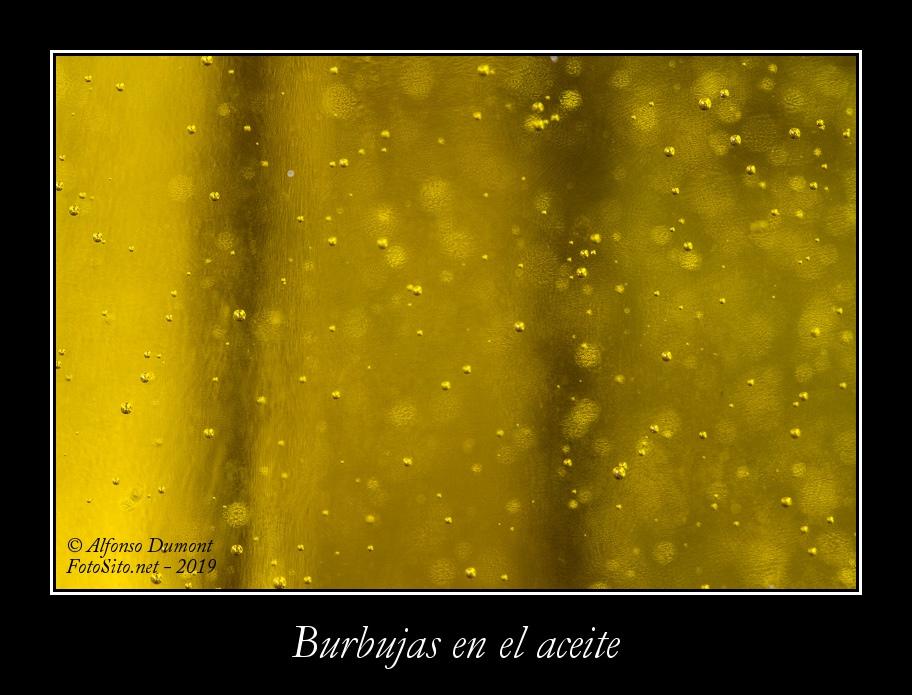 Burbujas en el aceite