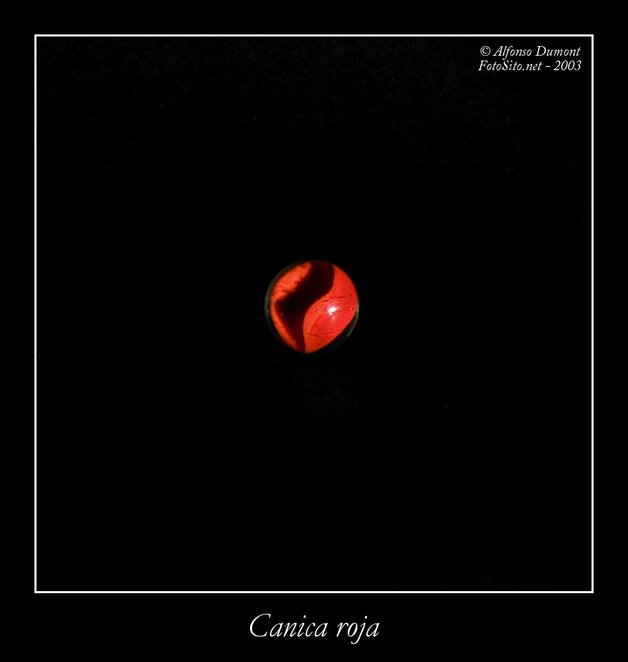 Canica roja