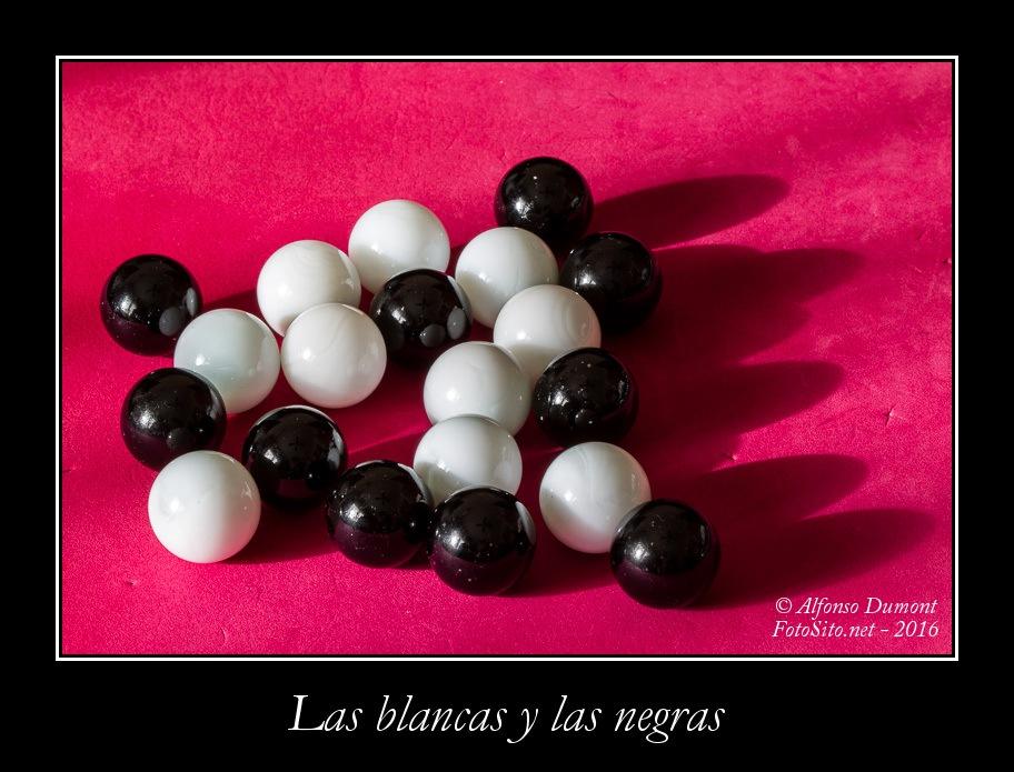 Las blancas y las negras