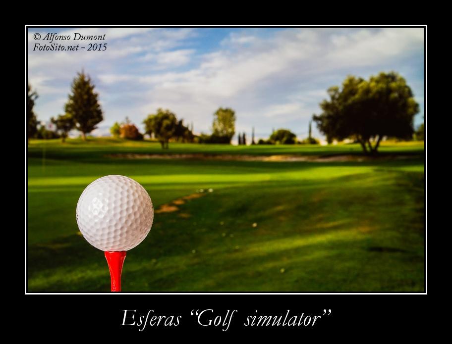 Esferas -Golf simulator-