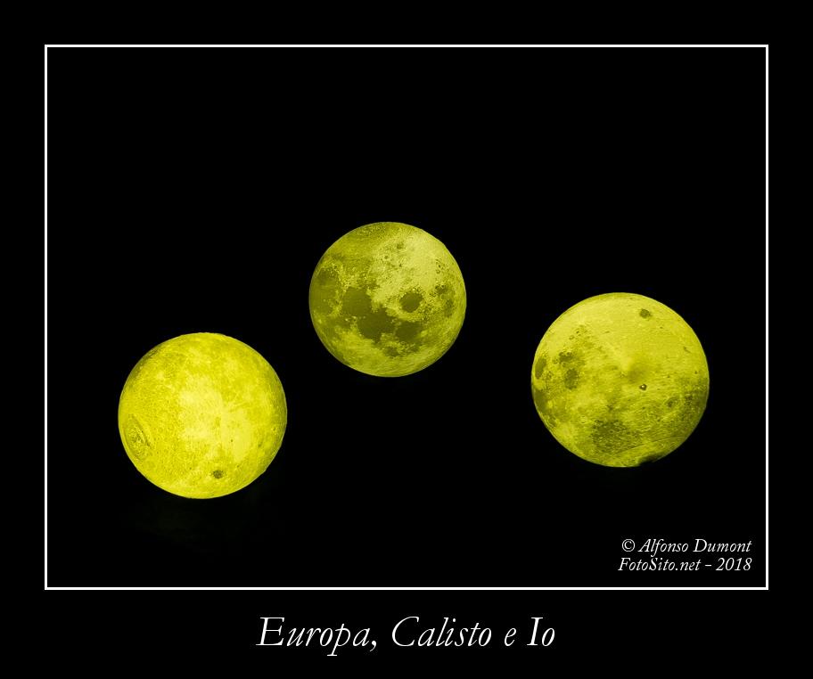 Europa, Calisto e Io