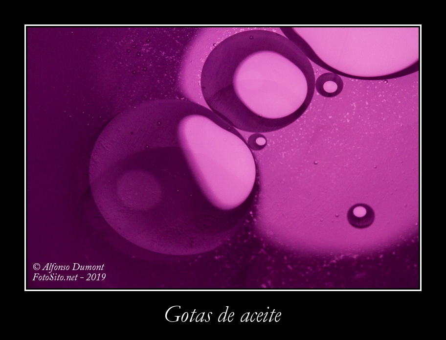Gotas de aceite