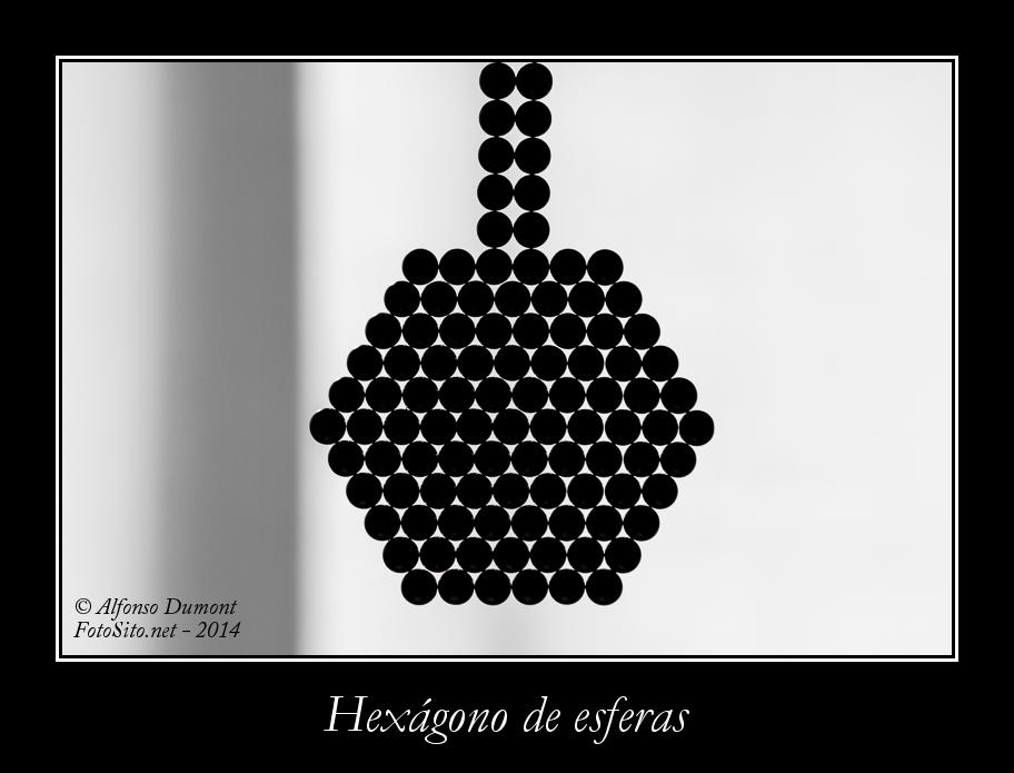 Hexagono de esferas