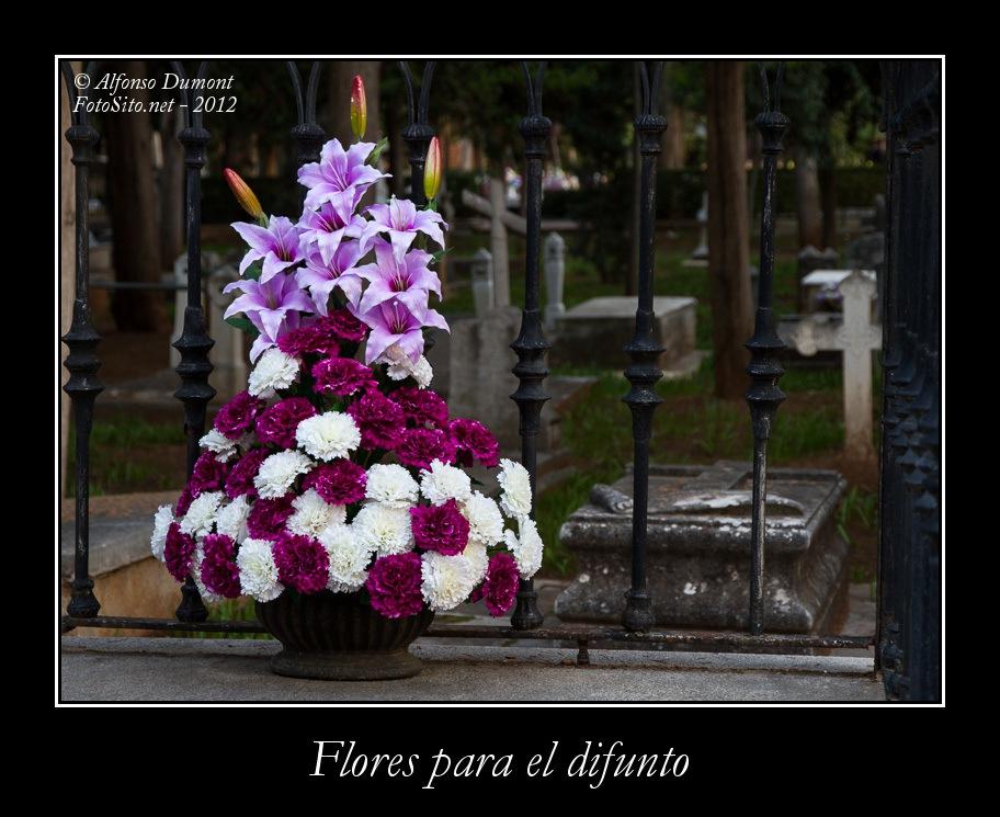 Flores para el difunto