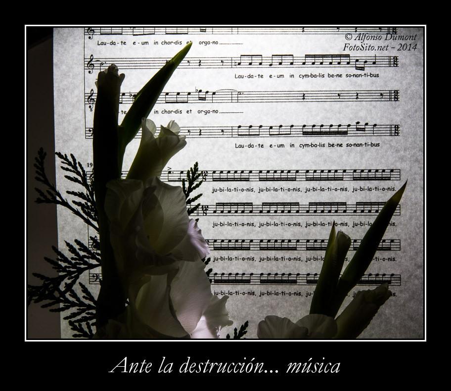 Ante la destruccion... musica