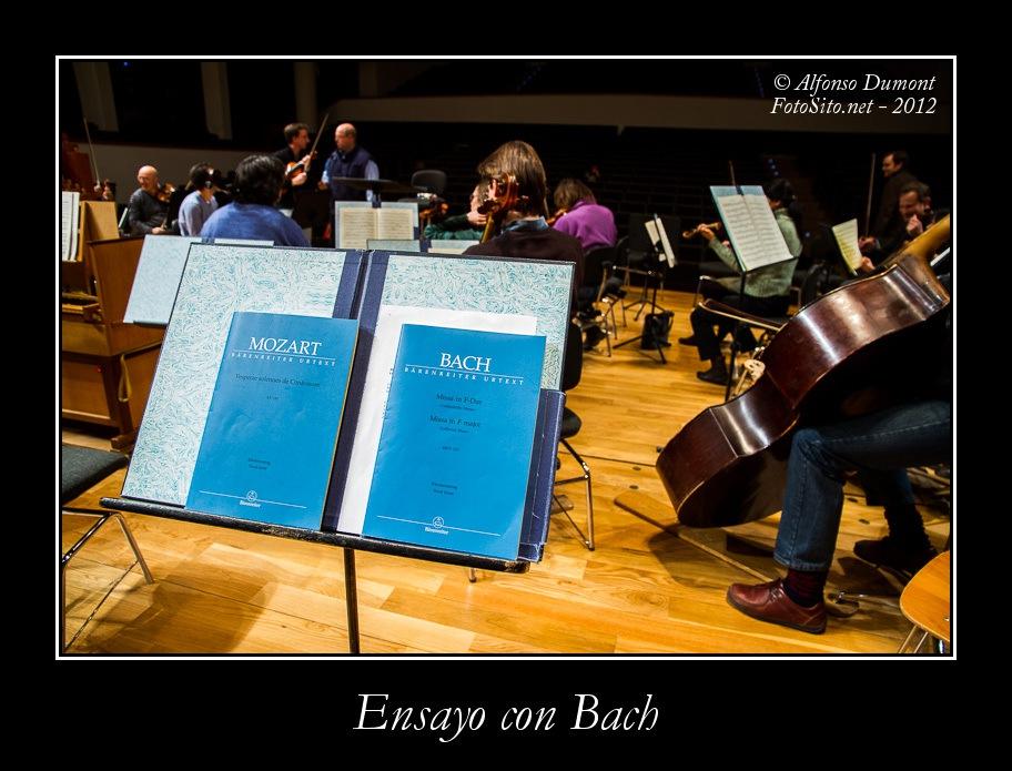 Ensayo con Bach