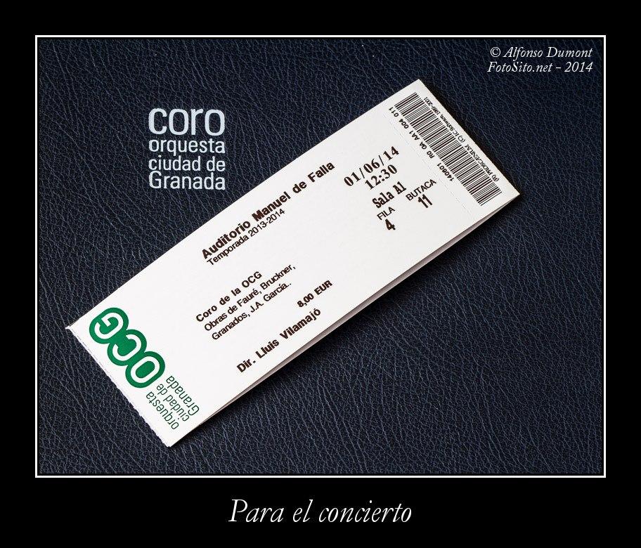 Para el concierto